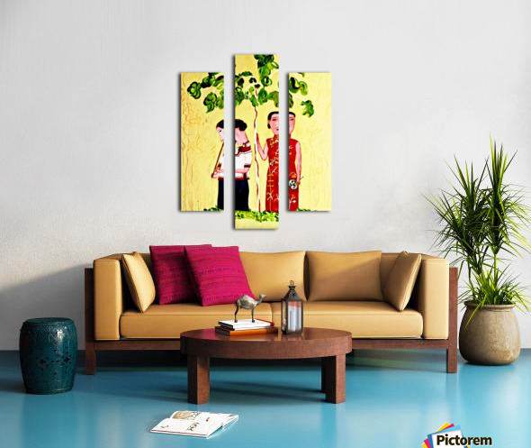 AS - Two Chinese Ladies Canvas print