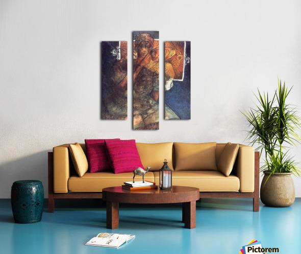 Femme assise Impression sur toile