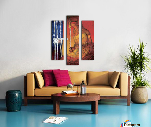 Massai Impression sur toile