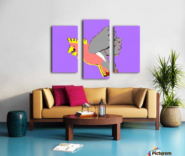 Laughing Galah - Purple Canvas print
