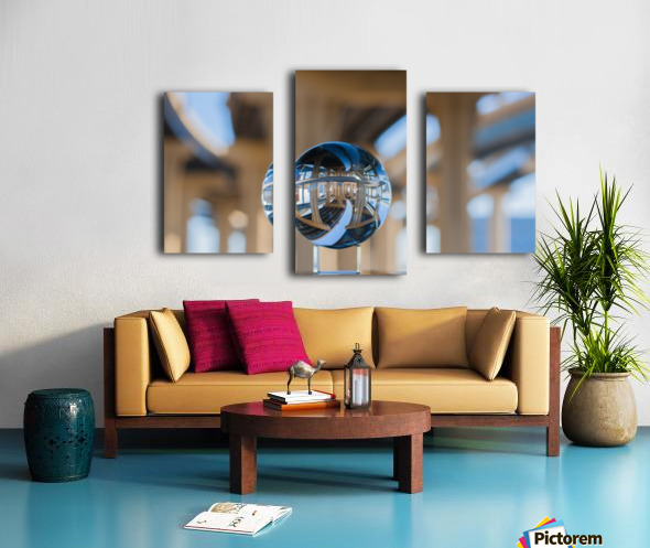 MKE Glass Ball Reflections Canvas print