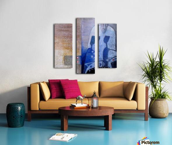 blue horserider 3 Impression sur toile