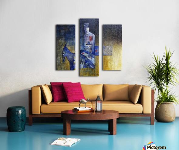 blue horserider 2 Canvas print