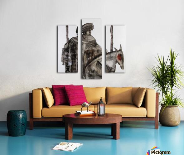 Shadow horserider 5 Canvas print
