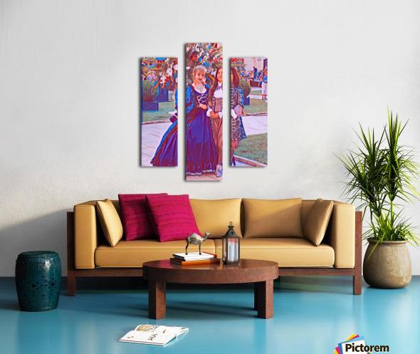 The infant womans partner Canvas print