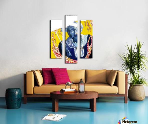 Femme à lombrelle Impression sur toile
