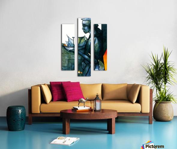 La marchande Canvas print