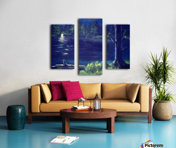 Peaceful Moonlit night Canvas print