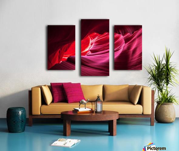 Purple Wave Canvas print