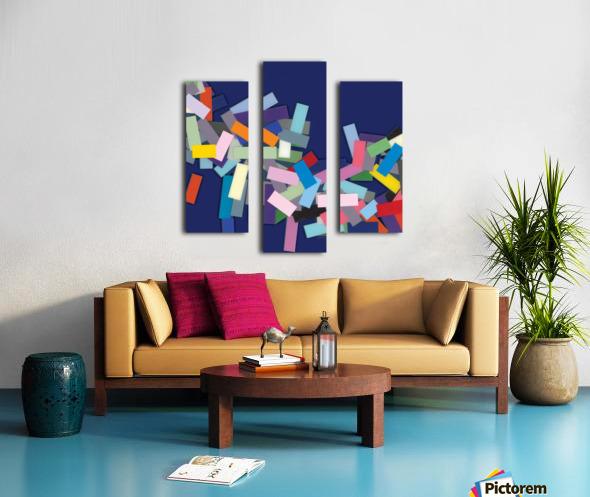 CHIC blue 1  Canvas print