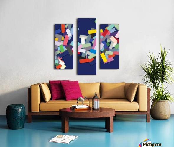 CHIC blue 2  Canvas print