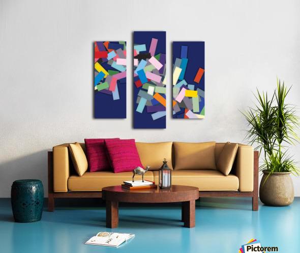 CHIC blue 3  Canvas print