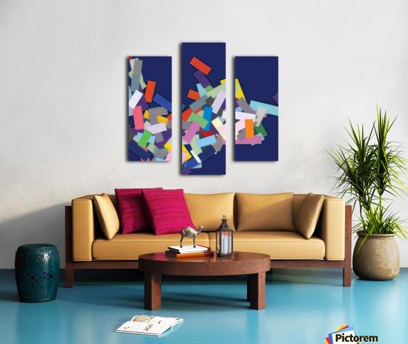 CHIC blue 4  Canvas print