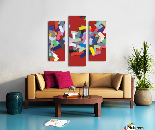 CHIC red 2  Canvas print