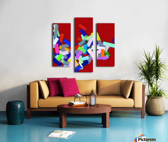 CHIC red 4  Canvas print