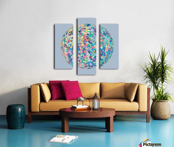 RONDI pastel light blue background Canvas print