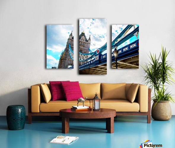 The Might of Tower Bridge Canvas print