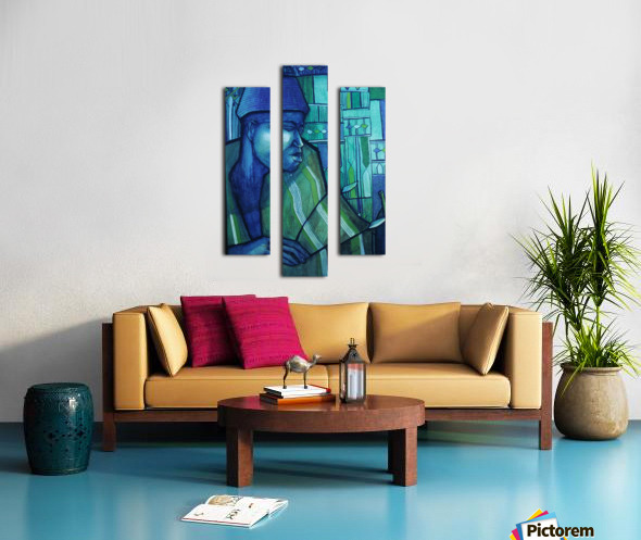 forgé de bleu Canvas print