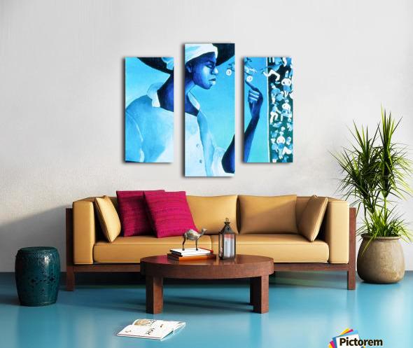 vélo bleu Canvas print