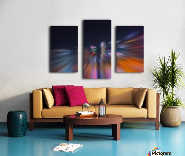 Radial_orangeblue Canvas print