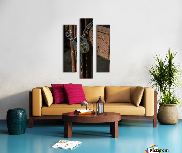 Locked Out Canvas print