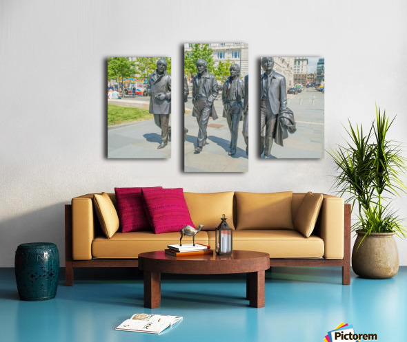 The Beatles Statue Canvas print