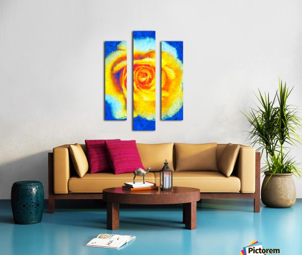 Floating Rose Canvas print