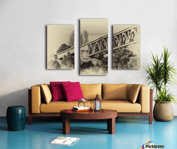 Railway Bridge in B&W Canvas print