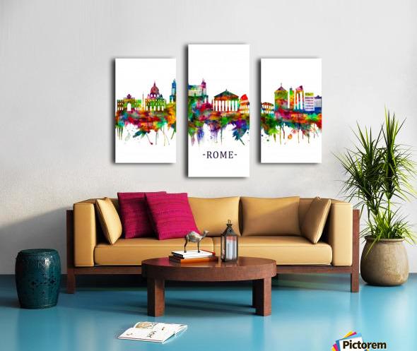 Rome Italy Skyline Canvas print