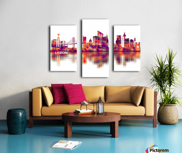 Lisbon Portugal Skyline Canvas print