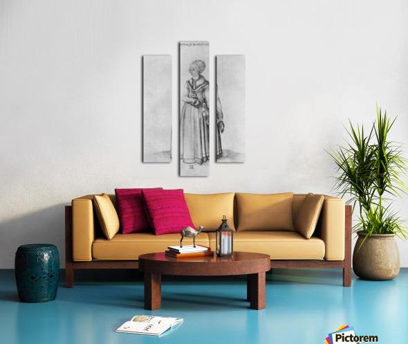 Nuremberg woman in house dress Canvas print