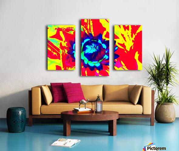 Graphic Flower Effect 2 Canvas print