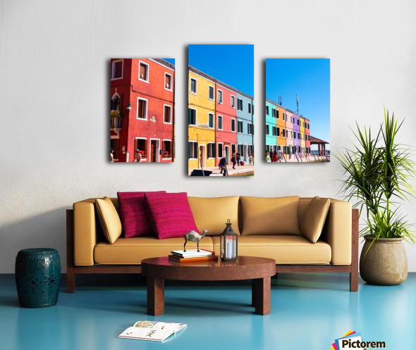 Colorful Venice Houses Canvas print