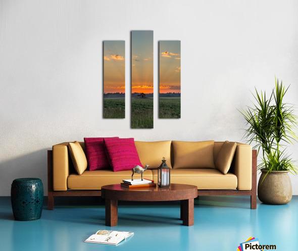 Sunset Hut Canvas print