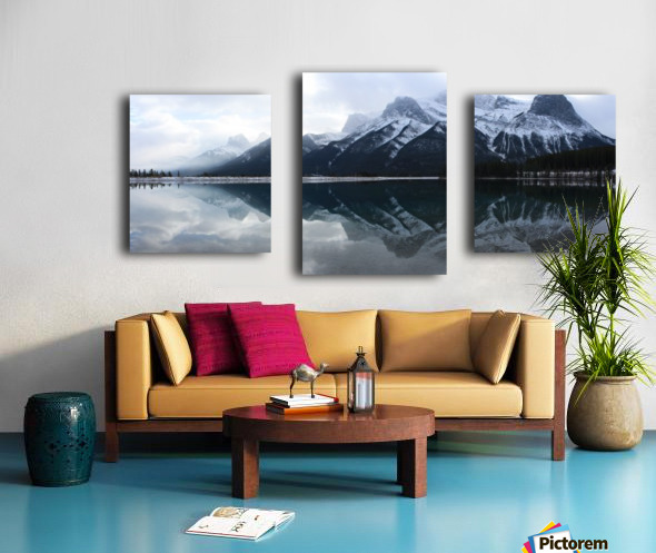 Canmore Winter Mountain Panorama Canvas print