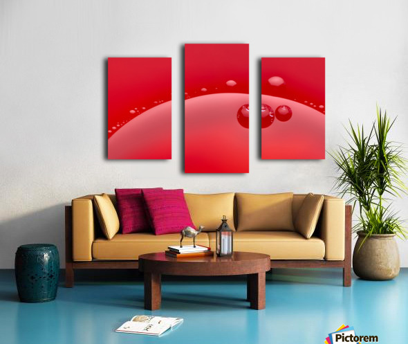 Abstract background of red color and circle shape Canvas print