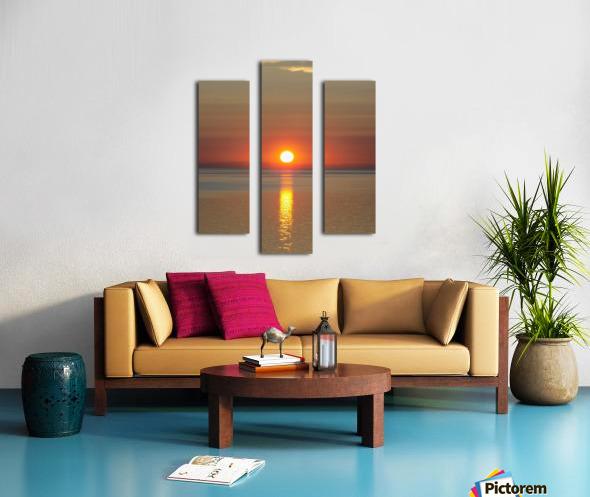 Orange Sunset Vertical Canvas print