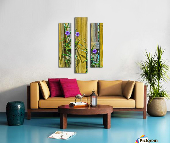 Fence Flowers 1 Canvas print