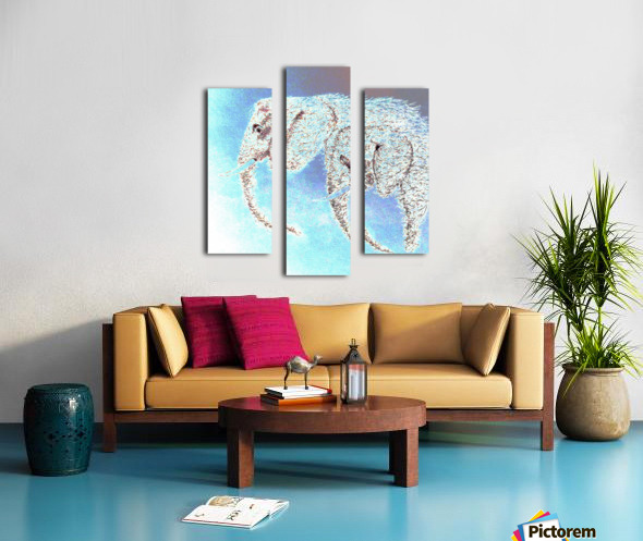 2 Elephants Canvas print