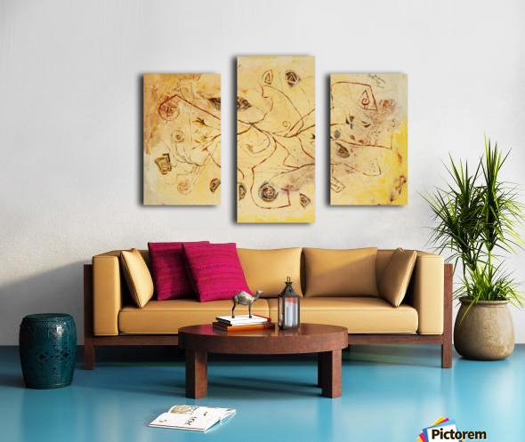 copper threads Canvas print