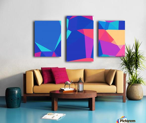 abstract geometric triangular art Canvas print