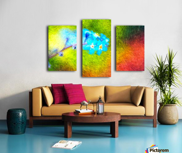 Forget Me Nots In The Wild  Canvas print