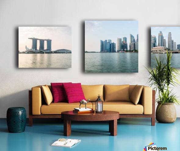 Panorama of Singapore skyline at sunrise Canvas print