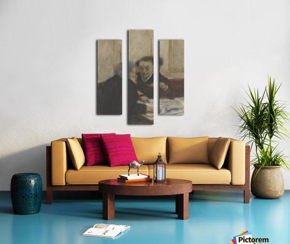 At the Café Châteaudun Canvas print