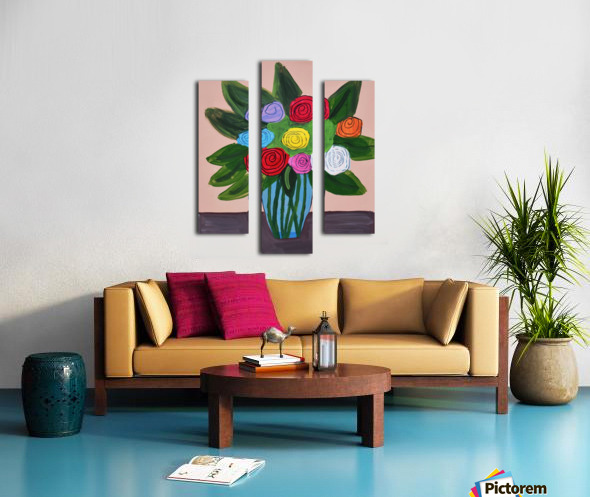 Flowers. Tala S Canvas print