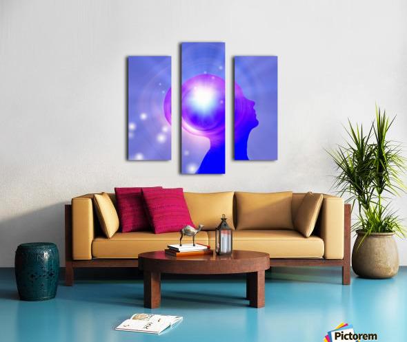 Human Head with Light Canvas print