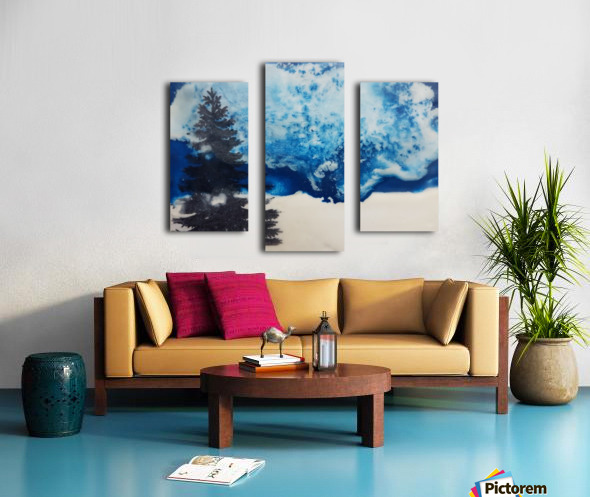 Crystal White Canvas print