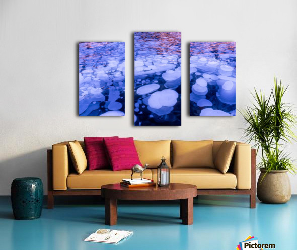 Abraham Lake Bubbles Canvas print