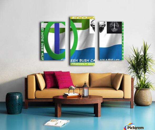 GREEN BUSH CANNABIS. LIFE Canvas print
