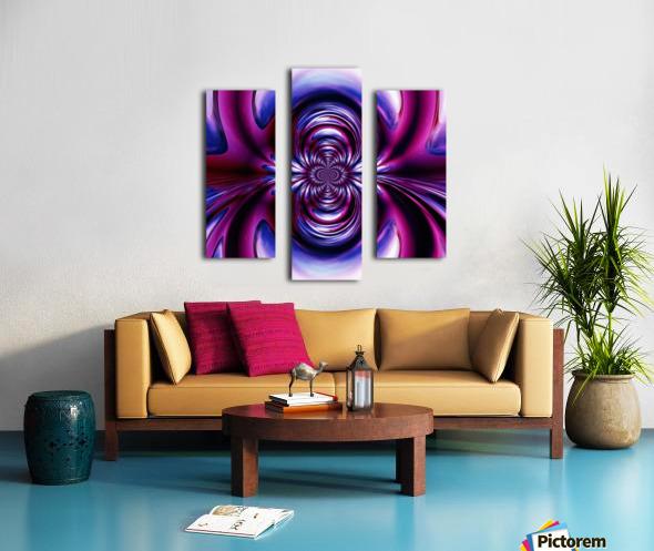 Purple Space Canvas print